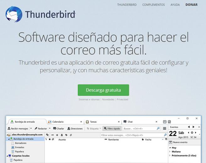 configuracion correo electronico email thunderbird en ordenador