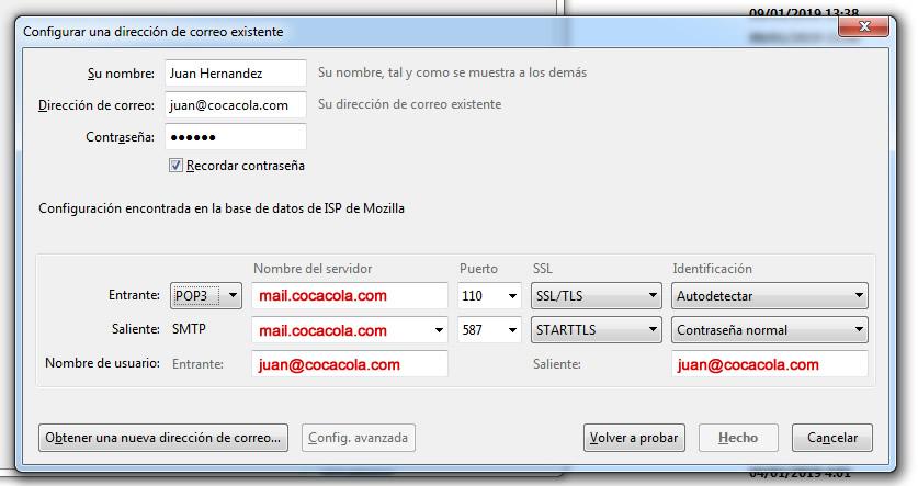 configurar email en ordenador